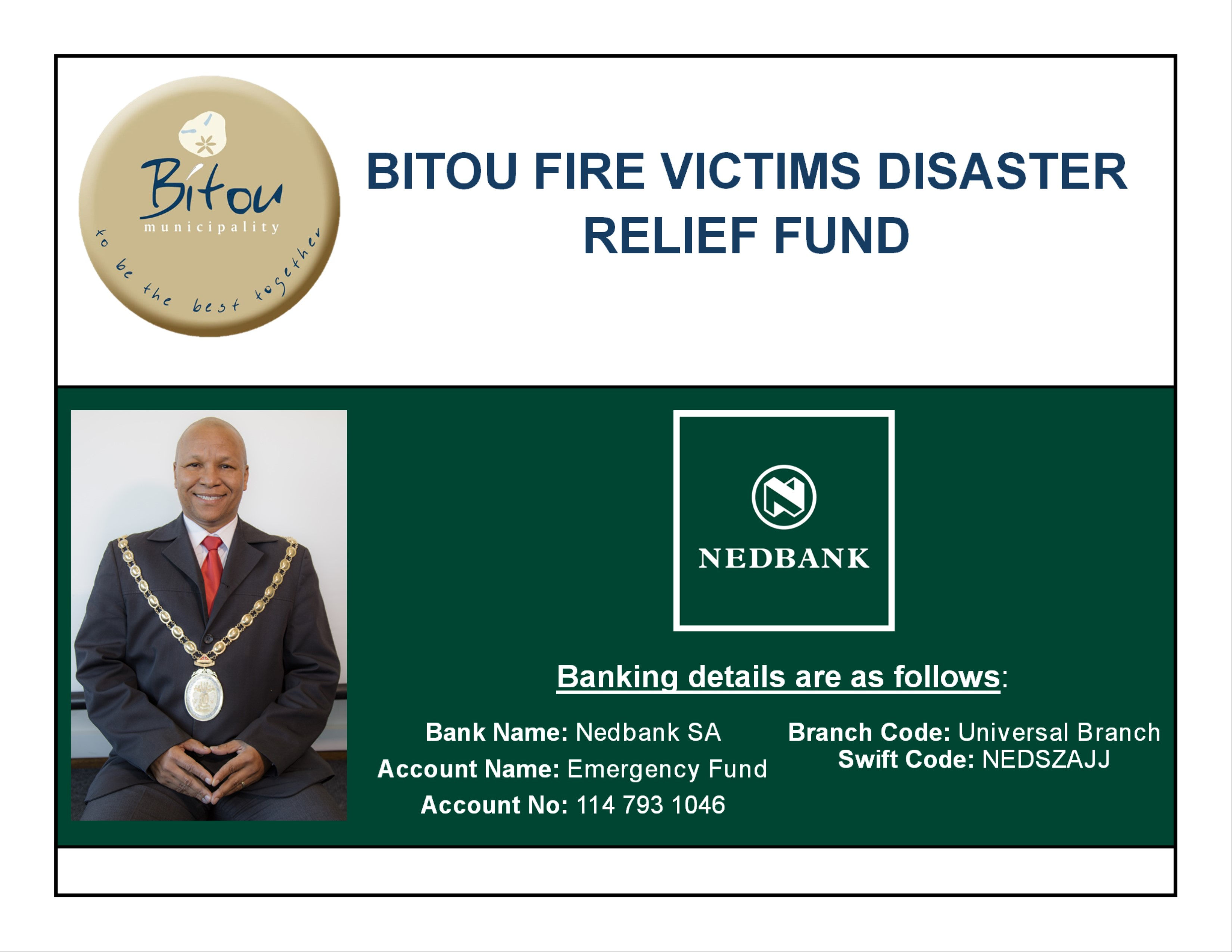 BITOU MUNICIPALITY'S EXECUTIVE MAYOR - RESPONSE TO THE RECENT FIRE DISASTER