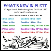 What's New in Plett 5 December 2019
