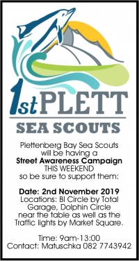 What's New in Plett 31 October 2019